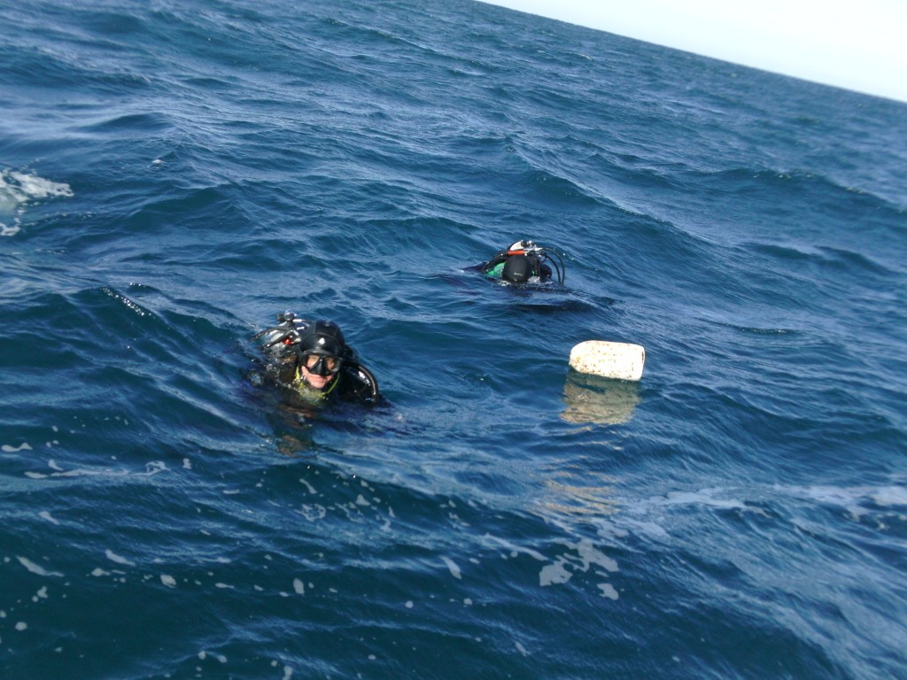 When the buoys break off, we have to send divers down to find the rest.  Believe it or not, we usually do.